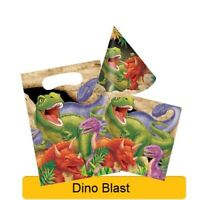 DINO BLAST Birthday Party Range - Dinosaur Tableware Balloons & Decorations