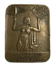 Bausch & Lomb Honorary Science Award Art Deco 1930's Brass