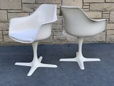 Pair of Mid Century Modern Burke Star Trek Tulip Base Arm Chairs