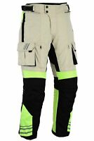Black Tab GloRider Hi Vis Waterproof Removable Armoured Motorcycle CE Trousers