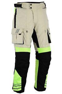 BUSA GloRider Hi Vis Cordura Waterproof CE Armour Motorcycle Safety Trousers