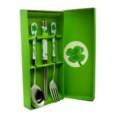 Fashion Stainless Steel Spoon Chopsticks+Box Set Green Souvenir Beautiful