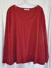 Cato Woman Red Long Sleeve Cotton Shirt Size 22/24W EUC