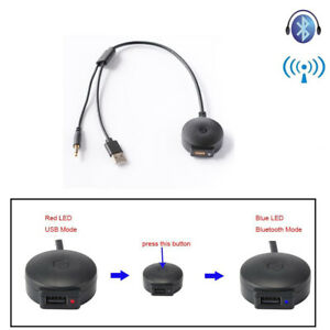 3.5mm AUX Bluetooth Audio USB Music Adapter Cable for BMW Series 1 2 3 4 5 6 7