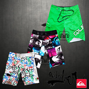 New Men Quiksilver Boardshorts Size 30 32 33 34 36 Swimwear IZARO Cap BNWT