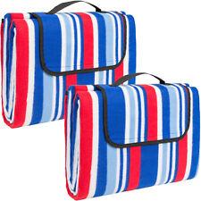 2x Colchón manta de picnic viaje camping 200x150 fondo hidrófugo acampada playa