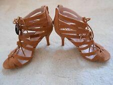 Dorothy Perkins TAN High Heel Caged Wide fit Sandal (NEW) Size 4(Eur 37)-£35.00