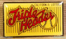 Triple Header California Lottery Hat Lapel Pin Button Brooch Badge Pinback