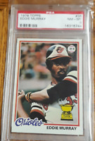 1978 Topps Baseball #36 Eddie Murray Rookie RC PSA 8 Nicely Centered