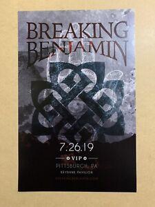 Breaking Benjamin VIP Tour Poster Lithograph 11x17