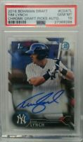 Tim Lynch 2016 Bowman Chrome Draft Picks Auto rookie PSA 10 Yankees rc invest rc