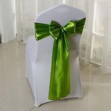"Satin Chair Cover Sash Bows Banquet Wedding Decor Untied 6'' x 108"" 10/50/100pcs"