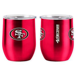 San Francisco 49ers  NFL 16 oz Ultra Curved Stemless Wine Glass Tumbler