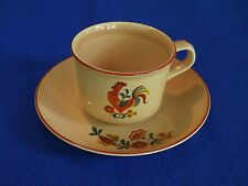 """Vintage TAYLOR SMITH TAYLOR """"Reveille Rooster""""  2 Cups and Saucers"""