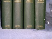 THE LIFE OF JOHN MARSHALL (4) VOLUME SET +(1) SIGNED by Albert J. Beveridge