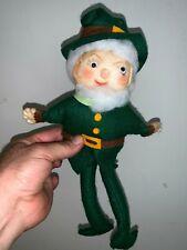 Vintage Irish Leprechaun Troll Doll Handmade One Of A Kind Unique 13� ��sj8j