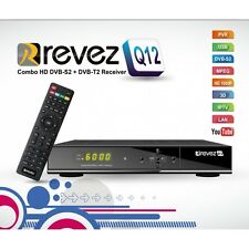 Revez Q12 Full HD Combo Receiver Saorview, UK Freeview, Freesat, LAN, Ethernet