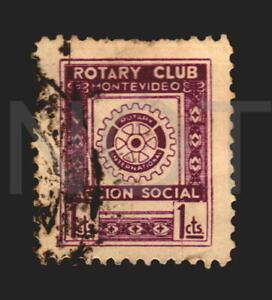 Uruguay Rotary Club Montevideo Poster stamp cinderella postally used ca 1920