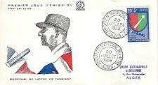 ALGÉRIE ENVELOPPE FDC 1er JOUR 1958 - YT352 - Maréchal De Lattre de Tassigny
