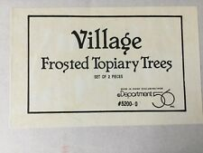 """Dept 56® Village Accessories Frosted Topiary Trees 12"""" (Set of 2)- Brand New"""