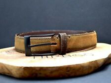 Zara Vintage Mens Suede Leather Belt Brown Size 30