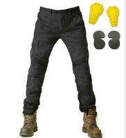 Denim Biker Motorcycle Jeans With Pad Army Green Moto Pants Combat Pants