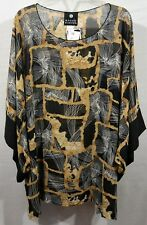 """3X NEW Catherines womens top blouse caftan kimono sleeves bust 66"""" L 31"""" H 64"""""""