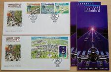 1998 Malaysia KLIA International Airport 3v Stamps & MS on 2 FDC (Melaka Cachet)