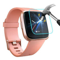 5 PACK Tempered Glass Screen Film Protector For Fitbit Versa Lite Smart Watch