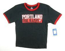 NEW MAJESTIC BOYS NBA BLACK DAMIAN LILLARD PORTLAND TRAIL BLAZERS T-SHIRT sz S
