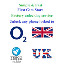 O2 & Tesco UK Factory unlocking service Unlock code for any phone iPhone Samsung