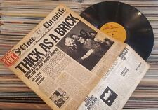 JETHRO TULL THICK AS A BRICK 1972 1ST LAMINATED ISRAEL unique fold cover LP