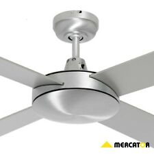 """Mercator Caprice 52"""" Timber 4 Blades Ceiling Fan - Silver"""