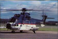 (wj8) Airplane Postcard: British International Helicopters, Aerospatiale AS332L