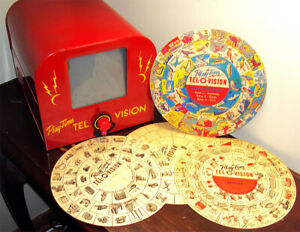 1949/50 Play-Time Tel-O-Vision Handy Manufacturing Co. Worcester Mass Ultra Rare