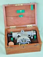 Vintage Carl Zeiss Jenna Ni.D Theodolite Surveyors Level in Mahogany Box