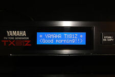NEW BLUE LCD display for Yamaha TX81Z FM Rack Synth Replacement Repair Mod