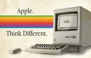 THE ORIGINAL APPLE MACINTOSH 128K THINK DIFFERENT COMPUTER POSTER