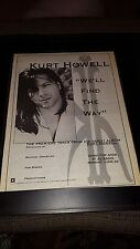Kurt Howell We'll Find The Way Rare Original Radio Promo Poster Ad Framed!