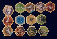 Catan Expansion Traders & Barbarians | All Scenario Hex Tiles | Game Pieces
