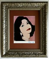 ANDY WARHOL ORIGINAL 1984 SIGNED  PRINCESS OF IRAN PRINT MATTED 11X14