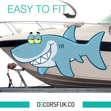 Sticker for boat - fisherman stickers - dizzy shark - fridge window laptop phone