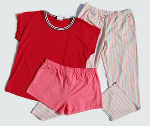 SONDERPOSTEN 10 x Damen Pyjama Nachtwäsche Shirts Hose Versandhaus Gr. 36/38 Mix