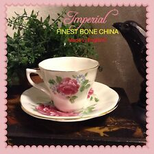 Imperial Finest Bone China Cup & Saucer Set Made In England Collectors