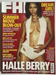 FHM Magazine #172 April 2004 featuring Halle Berry and Michelle Marsh