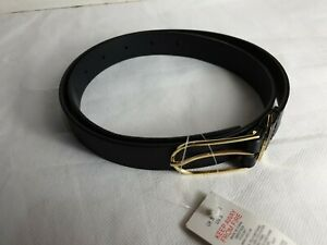 Womens Girls Small Belt Brass Buckle Slim Thin