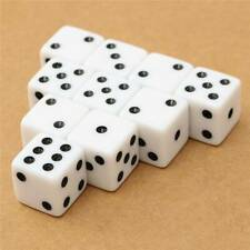 White Super Mini Dice Tiny Miniature 100pcs Set Of Game Supply Numbers Dice