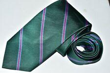 Men's  J. Crew Green 100% Silk   Neck Tie made in USA