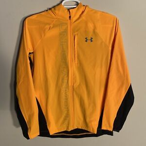 Under Armour Qualifier Outrun The Storm Running Jacket Orange Men's Size Small