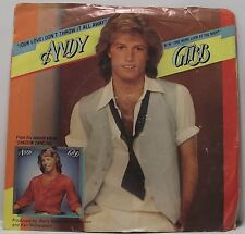 "ANDY GIBB : (OUR LOVE) DON'T THROW IT AWAY 7"" Vinyl Single 45rpm Pic Sleeve VG"